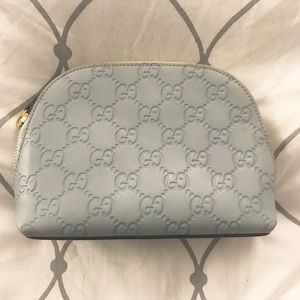 Light blue Gucci cosmetic pouch